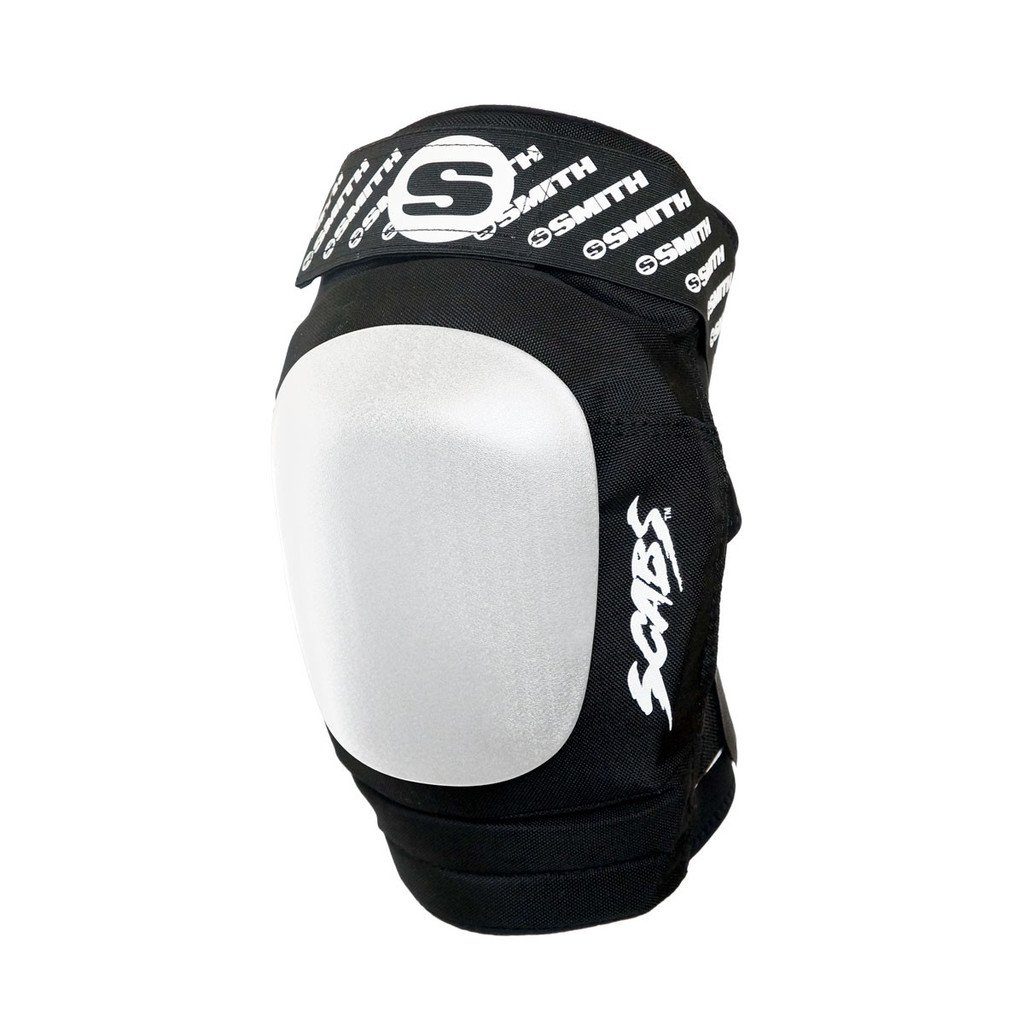 Smith Safety Gear Elite II Knee Pads, Black/White, Small/Medium