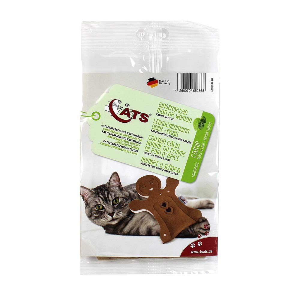 Amazon.com : 4CATS Gingerbread Man Shaped Cat Pillow Toy with Catnip : Pet Supplies