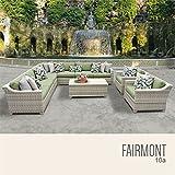 TK Classics FAIRMONT-10a-CILANTRO 10 Piece Outdoor Wicker Patio Furniture Set, Cilantro Review