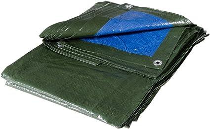 Telo Hunter Multiuso Antistrappo Rinforzato e con Occhielli Double Face Verde e Blu Misura cm 500X800 Metri 5X8