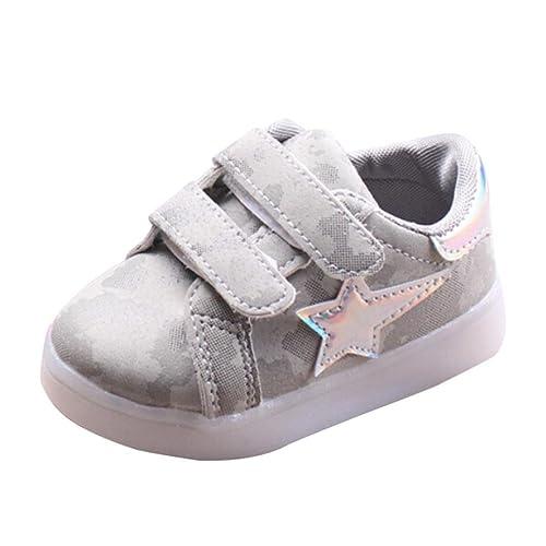 K-youth® Zapatos para Bebé, Invierno La Zapatilla de Deporte Antideslizante LED Otoño Suave Zapatos Bebes Chica Deportivos Niña Casual Zapatillas para ...