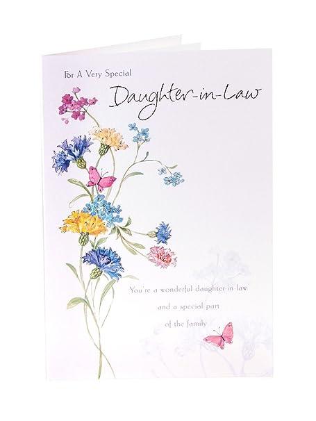 DaughterInLaw Birthday Card Amazoncouk Kitchen Home