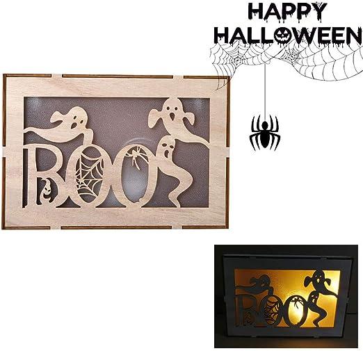 Beyonds Halloween Light Decorations LED Wooden Pumpkin Light Pendant Halloween Party Decorations Home Indoor Outdoor Garden Door Wall Bar Decor Supplies