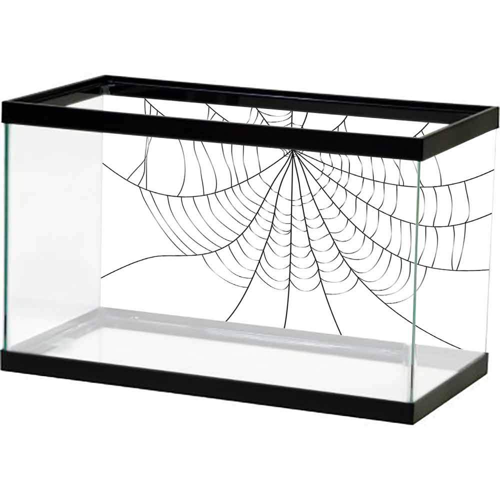 bybyhome Undersea World Spider Web,Close Up Cobweb Design Monochrome Design Elements Catching Network Fear,Grey Black White with Sticker on The Backside by bybyhome