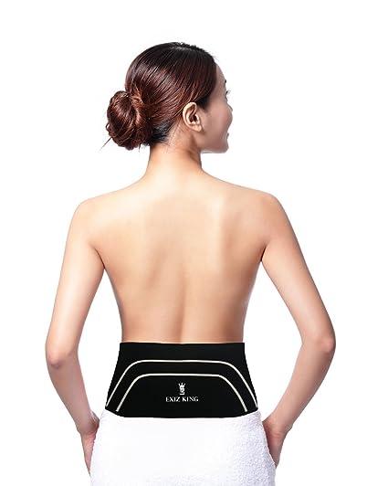 cdb3439aa3 Exiz King Copper Back Brace Lower Back Pain Relief Support Belt for  Treatment of Sciatica