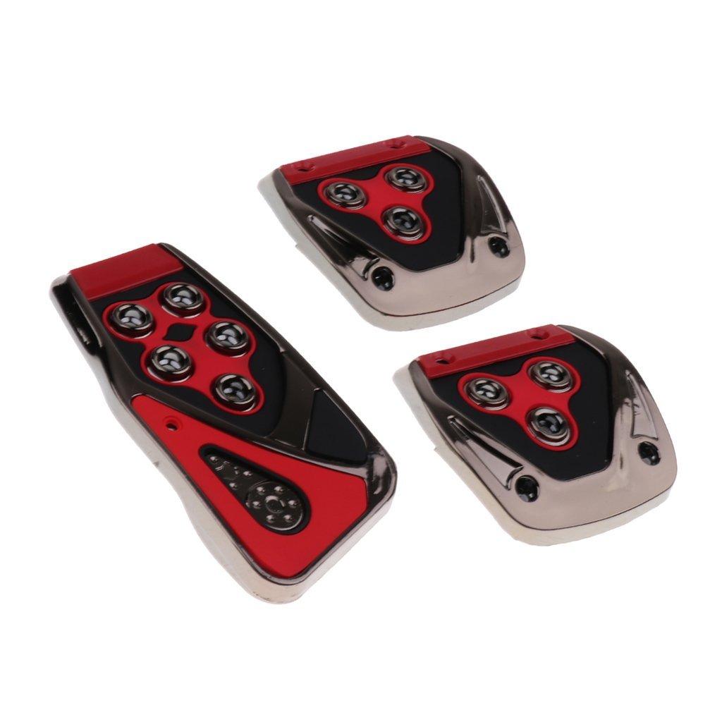 Gun-silver Homyl 3Pieces Manual Transmission Car Brake Clutch Accelerator Foot Pedal Non-Slip Pad Covers