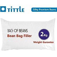 TITTLE Silky Beans 2 KG A-Grade for Bean Bag Filler/Refill.