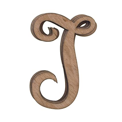 Amazon.com: Homeford Wooden Cursive Letter T, 3-Inch, 6-Piece