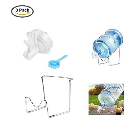 YOSPOSS-soporte dispensador de agua 2 – 5 galones de agua jarra soporte de metal