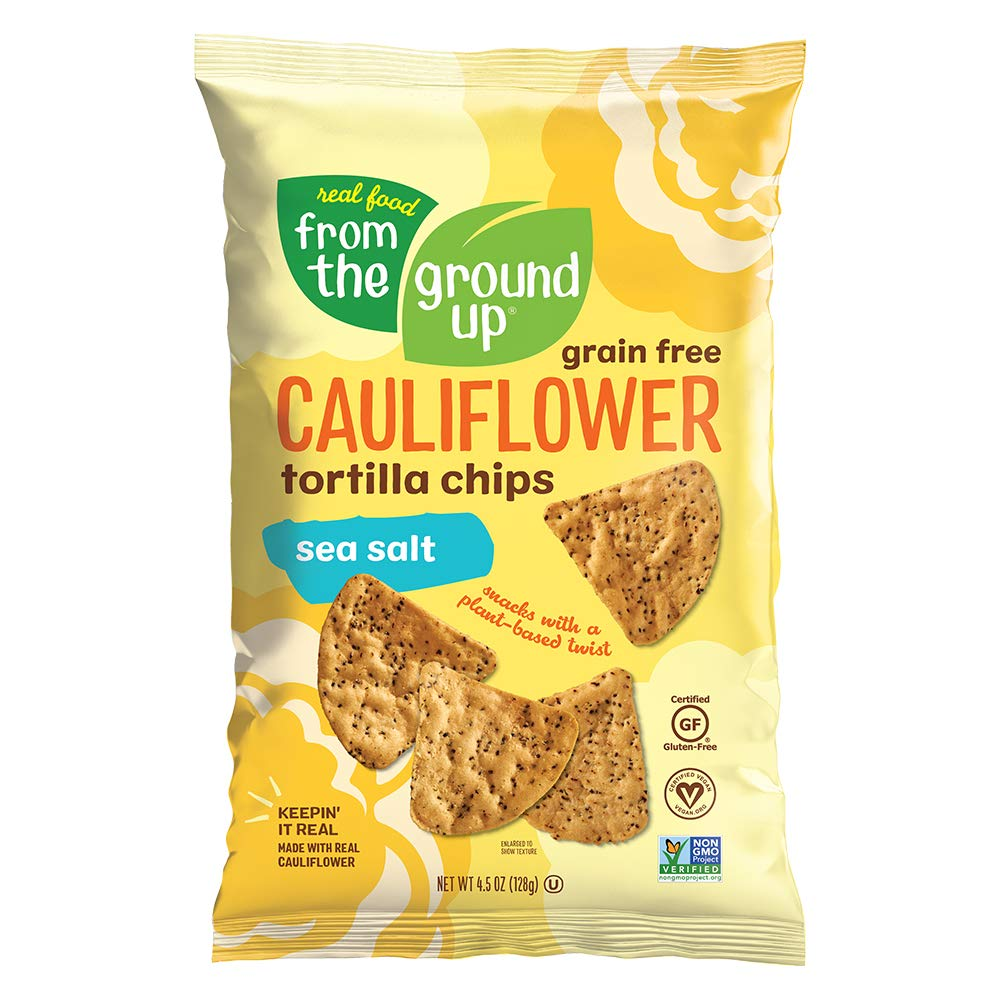 Real Food From The Ground Up Tortilla Chips (6 Pack) (Cauliflower) (Sea Salt)