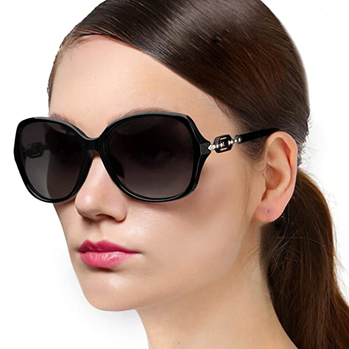 8770d7119d6ee Oversized Polarized Sunglasses for Women Vintage Big Frame Sun Glasses  Ladies Shades