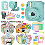 Fujifilm Instax Mini 8+ Instant Film Camera, (Mint), Case, Album, selfie mirror, colored close up filters, 40 film frames, 12 color markers & Complete Bundle