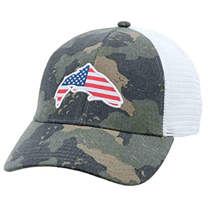 f8d6db1da Amazon.com : USA Patch Trucker (Simms Camo) : Sports & Outdoors