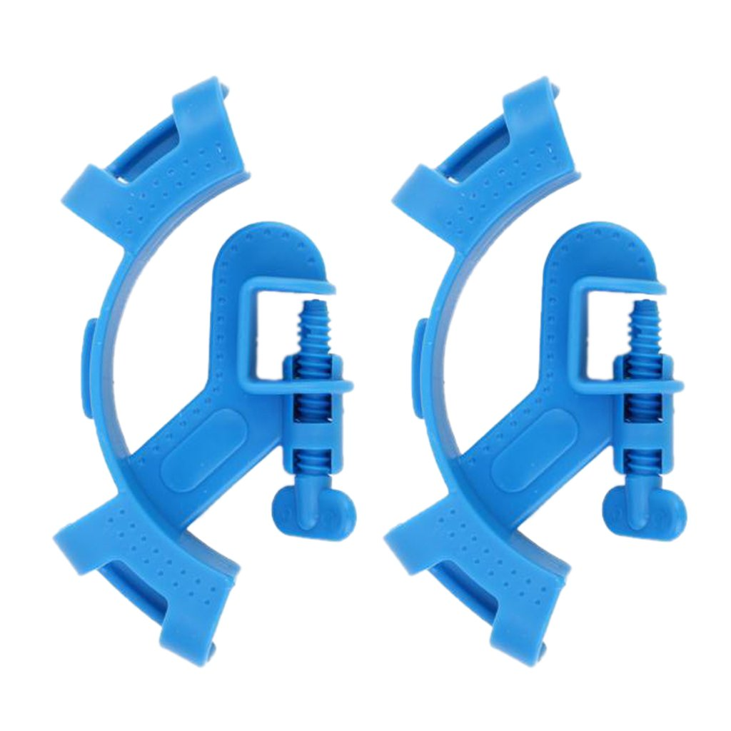 Dovewill Pack of 2pcs, Aquarium Water Tube Hose Fish Tank Mount Pipe Filter Holder Clip, Can Hold UP to 18mm( Blue Color)