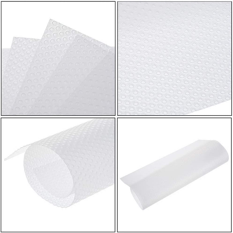 Cupboard Mat 8 Pcs 4 Colors 45 x 29cm Can Be Cropped Anti-Fouling Waterproof Kitchen Cabinet Liners Pad Suitable for Cabinets Kitchens Offices Bookshelves Drawers Countertops Table