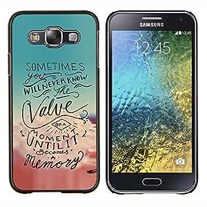 EJOOY---Cubierta de la caja de protección para la piel dura ** Samsung Galaxy E5 E500 ** --Momento motivación de la cita del texto