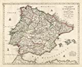 Antique Map-SPAIN-PORTUGAL-IBIZA-MALLORCA-Lotter-1750