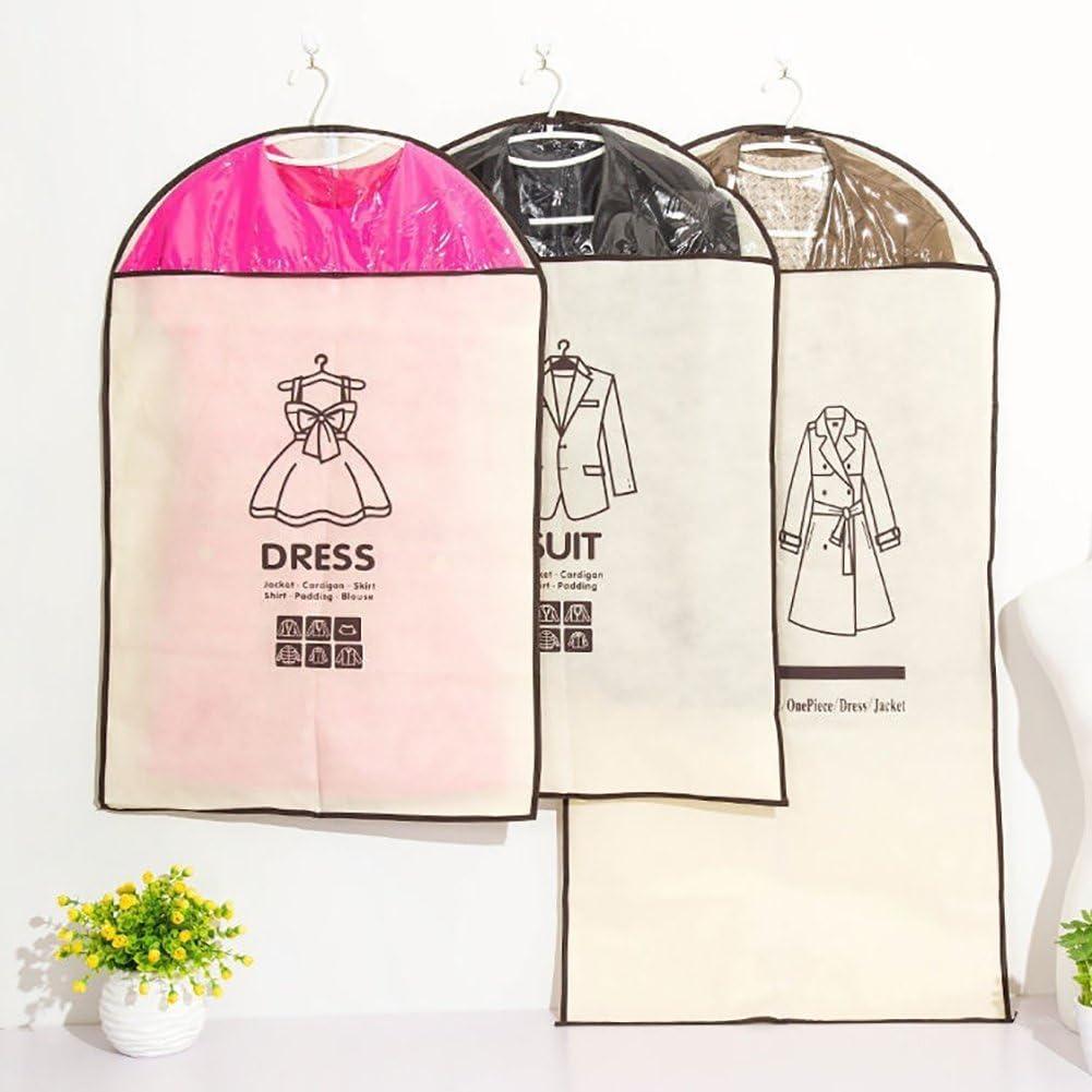 Mantel langer Rei/ßverschluss und Loch oben zum Aufh/ängen 1# Kleid Yibenwanligod Kleidersack Jacke f/ür Anzug Staubbeutel f/ür Kleidung
