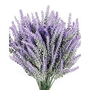 Luyue Artificial Lavender Flowers Bouquet Fake Lavender Plant Bundle Wedding Home Decor Garden Patio Decoration 37