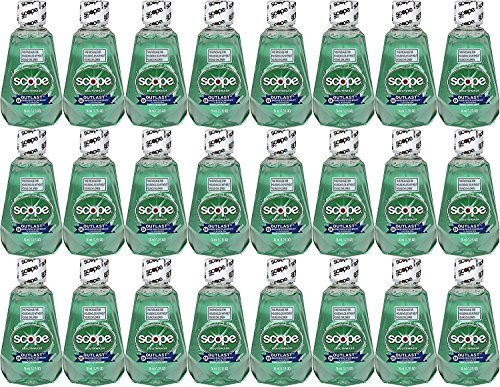 Scope Outlast Mouthwash, Long Lasting Mint, Travel Size, 1.2 Fl Ounce Case of 24
