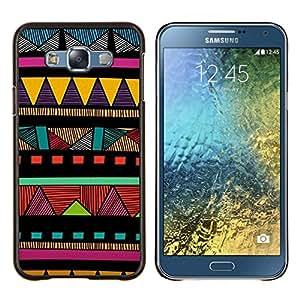 EJOOY---Cubierta de la caja de protección para la piel dura ** Samsung Galaxy E7 E700 ** --Indian modelo colorido nativo americano