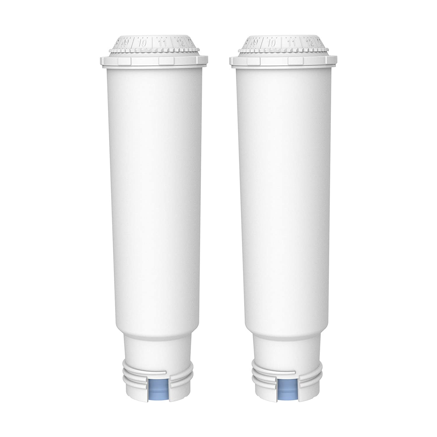 AquaCrest AQK-05 Compatible Coffee-Machine Water Filter Replacement for Krups Claris F088 - including various models of AEG, Bosch, Siemens, Gaggenau, Nivona, Melitta, Neff, Cocoon (2) EcoPure