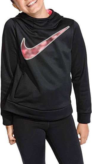 Nike Big Girls Swoosh Thermal Pullover Sweatshirt Hoodie: Amazon ...