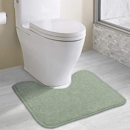 Amazon.com: Beauregar - Alfombra de baño de contorno de lino ...