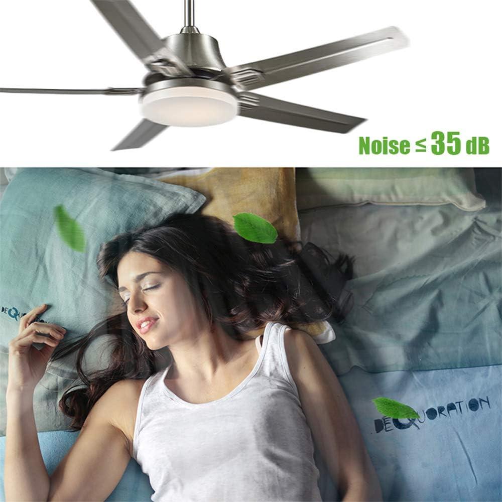 ZDHG 52In Ventilador De Techo con Kit De Luz LED De 24W Y
