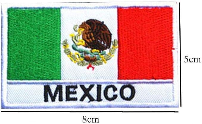 Bandera Mexicana del Bordado De Parches Parches Bordados Táctico Militar del Brazal De Tela Engomada De Coser Apliques para La Ropa: Amazon.es: Amazon.es