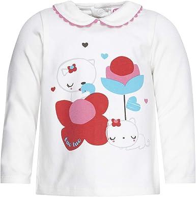 Conjunto CHÁNDAL Felpa Y Camiseta Punto Gatito NIÑA Rosa Happiness ...