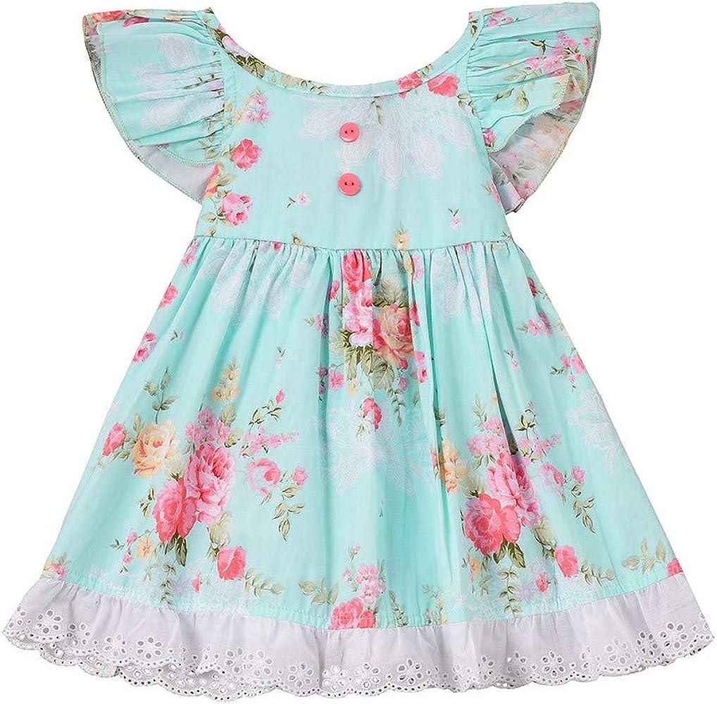 Innerternet-Vestido de niña, 12 Meses-5 año de Edad niñas Bebe ...