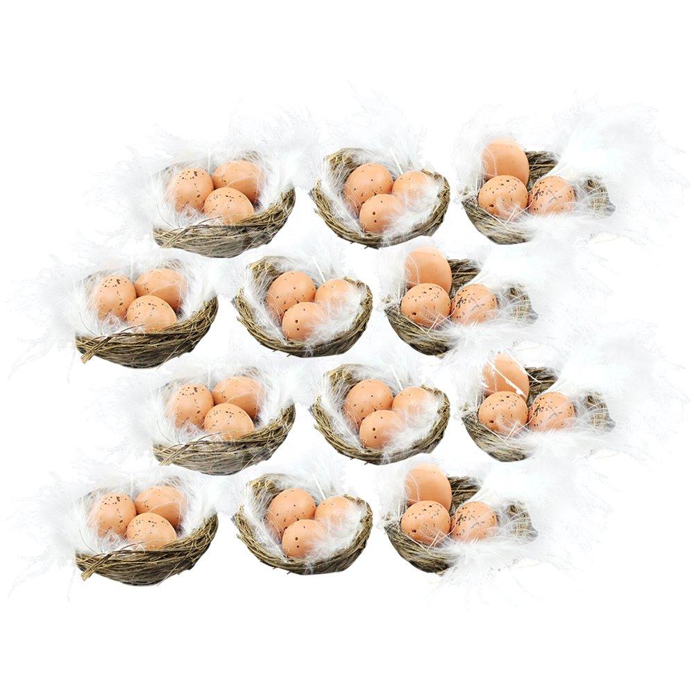 COM-FOUR 24x pulcini ciniglia di diverse dimensioni, decorazioni per la Pasqua (024 pezzi - pulcini gialli)