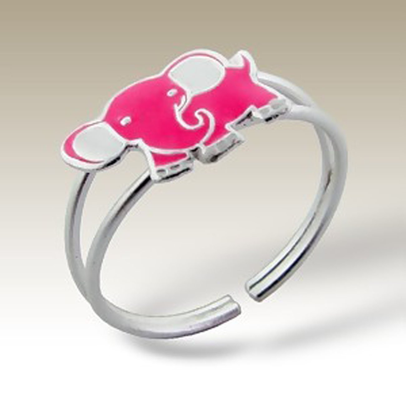 Children Toe Ring, Elephant Toe Ring, Sterling Silver 925 (E4929)