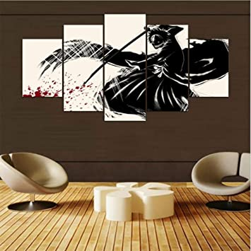 Amazon.com: QJXX Prints On Canvas Posters 5 Pieces Naruto ...