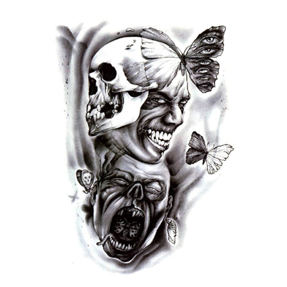 Flor del brazo pegatinas para el tatuaje pegatinas impermeables ...
