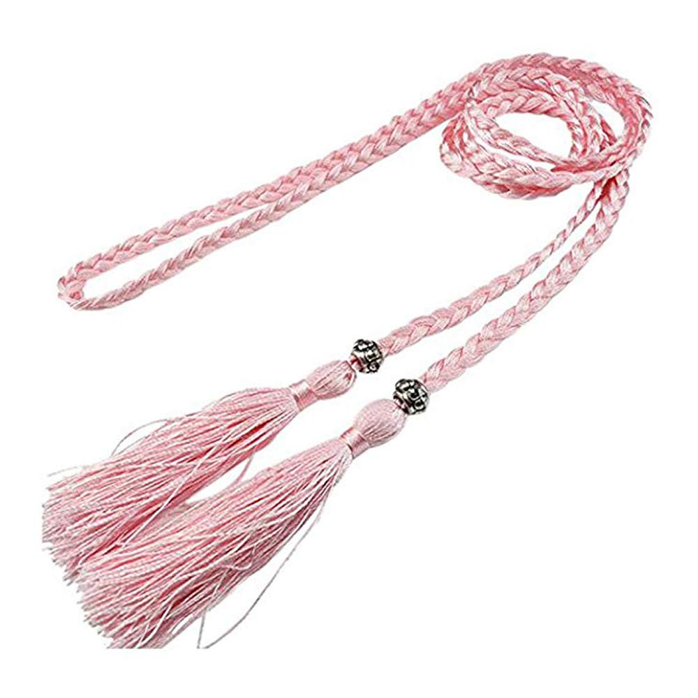 J Shop Woven Tassel Belt Knot Decorated Waist Chain Waist Rope for Woman and Girl