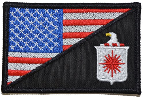 CIA Central Intelligence Agency USA Flag 2.25 x 3.5 inch Morale Patch - Full Color