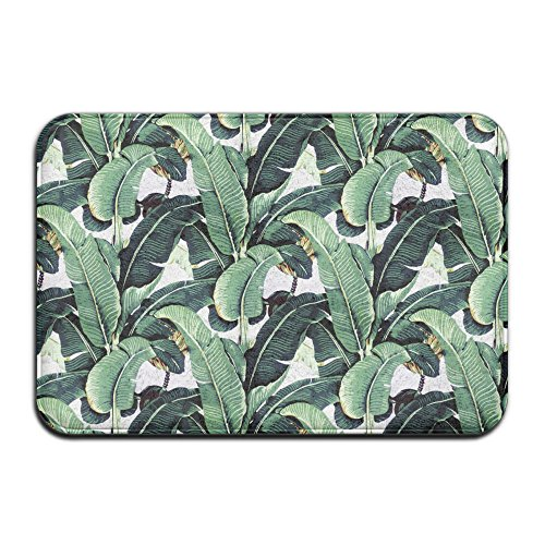 Martinique Banana Leaf Non Slip Washable Cozy Indoor Bathroom Mat For Living Room Bedroom (23.6