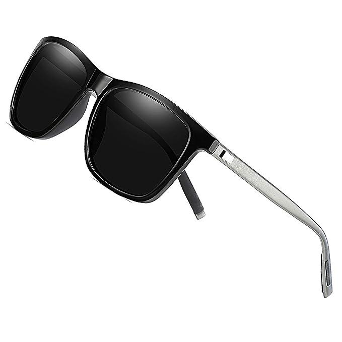 DUCO Sonnenbrille Eckig Unisex Polarisierte Sonnenbrille mit UV400 Schutz für Outdoor Sports 3029S