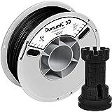 DURAMIC 3D Premium PLA Plus Printer Filament 1.75mm Black, 3D Printing Filament 1kg Spool(2.2lbs), No-tangling No…