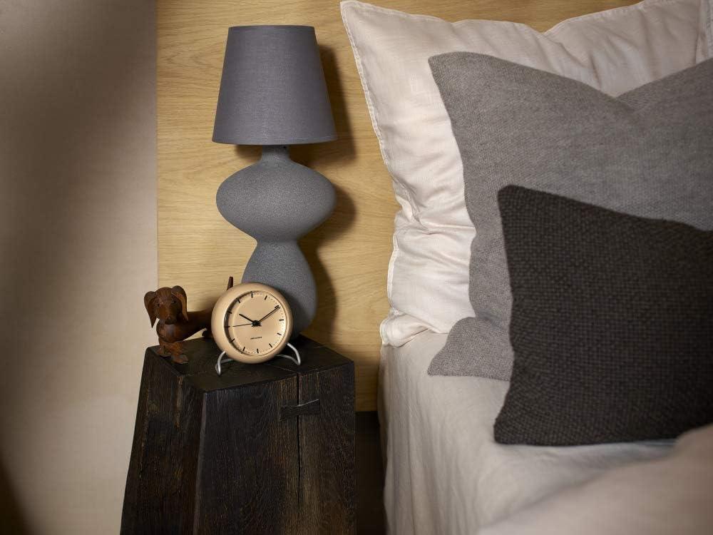 Arne Jacobsen Horloge de Table Plastique Beige 11 cm