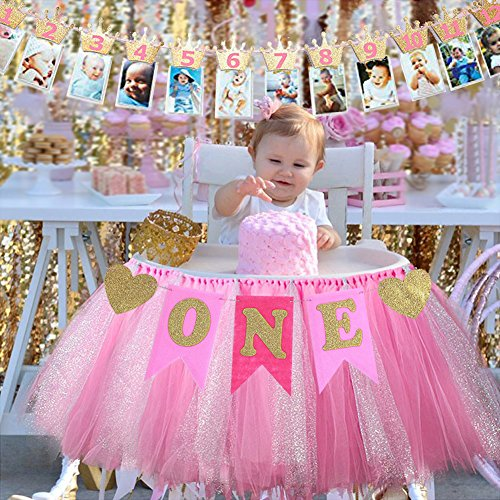 Evail 1st Birthday Party Decorations Pack Baby Girl First