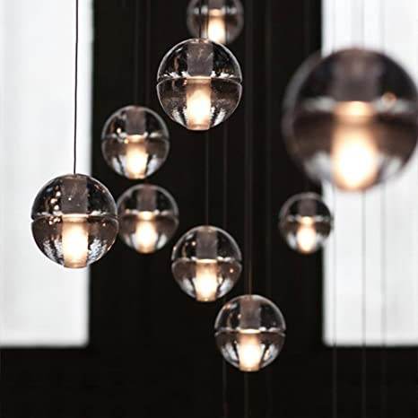 Injuicy vintage industrial magic clear bubble crystal ball pendant injuicy vintage industrial magic clear bubble crystal ball pendant lamp g4 led globe pendant ceiling light aloadofball Images