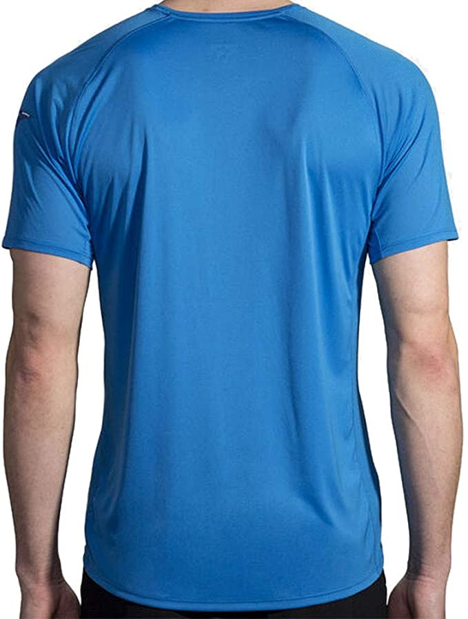 Brooks Mens Stealth Running T Shirt Tee Top Blue Sports Gym Breathable