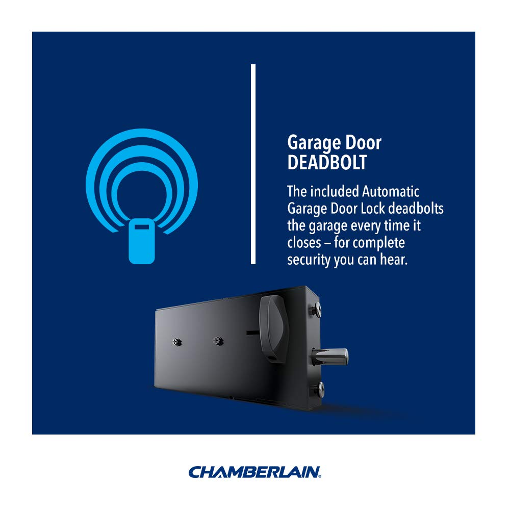 Chamberlain Rjo20 Direct Drive Wall Mounted Space Saving Garage Door Well Opener Wiring Also Safety Sensor One Size Black