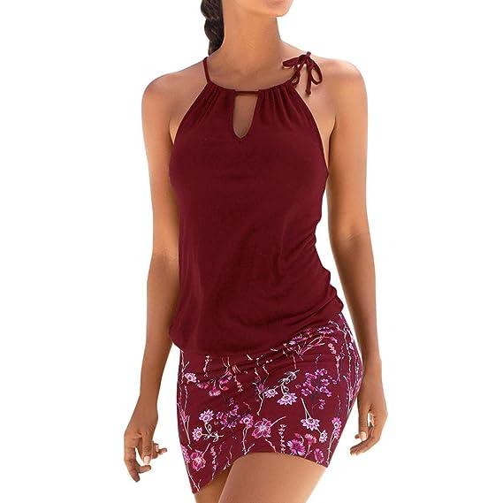 ❤ Tefamore Mujer Vestidos | Mujer Sexy Falda Chaleco Camisetas | Blusa De Fiesta Mujer | Tops Mujer Verano | Ropa De Mujer | Camisas Largas Mujer |Mujer ...