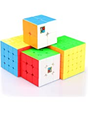 Coogam Moyu Cube Bundle 2x2 3x3 4x4 5x5 Speed Cube Set MF2S MF3S MF4S MF5S Stickerless Puzzle Toy Gift Box