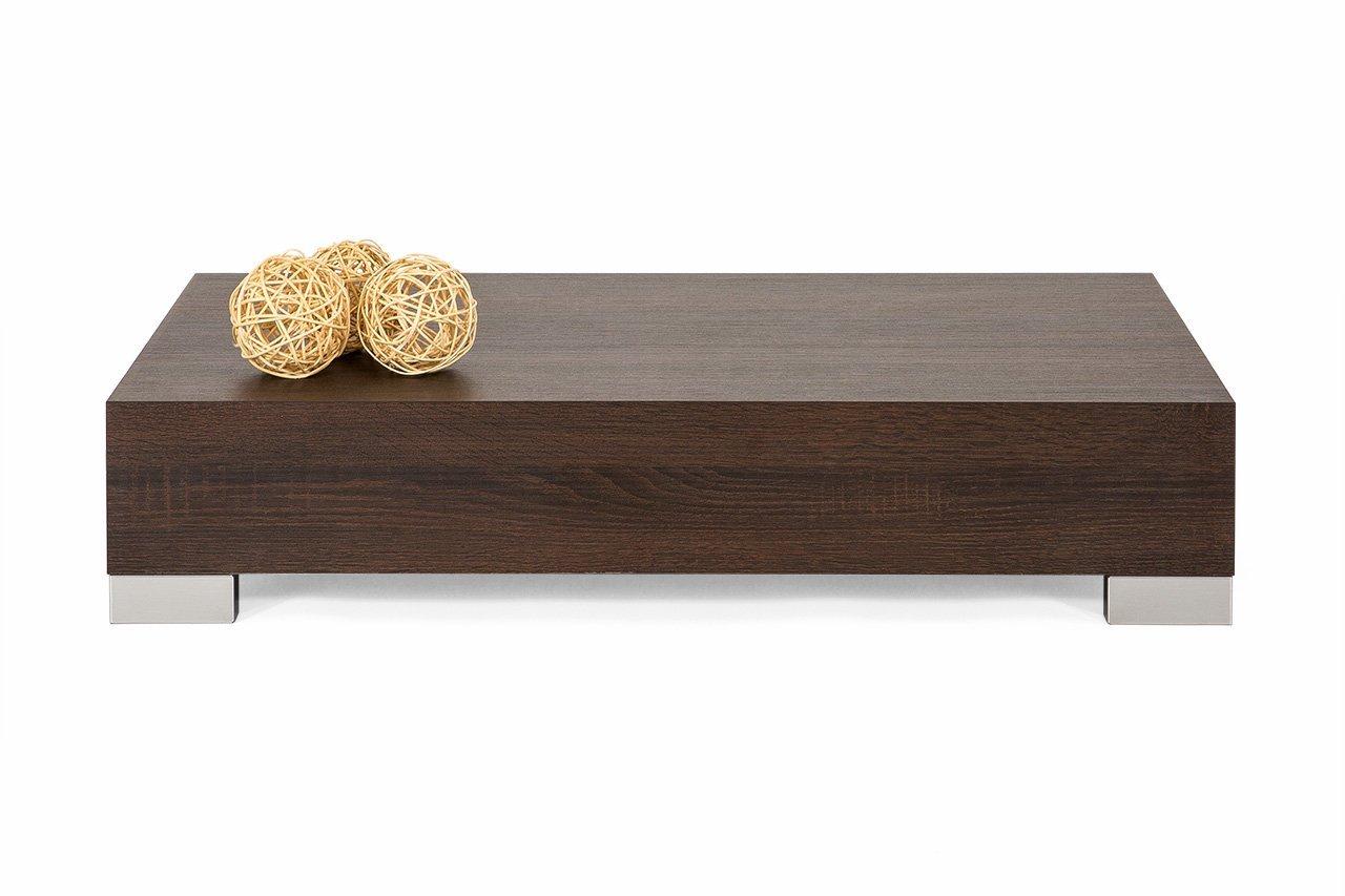 mobilifiver iCube 90 Table de salon - bois - chêne Moro - 90 x 60 x 18 cm