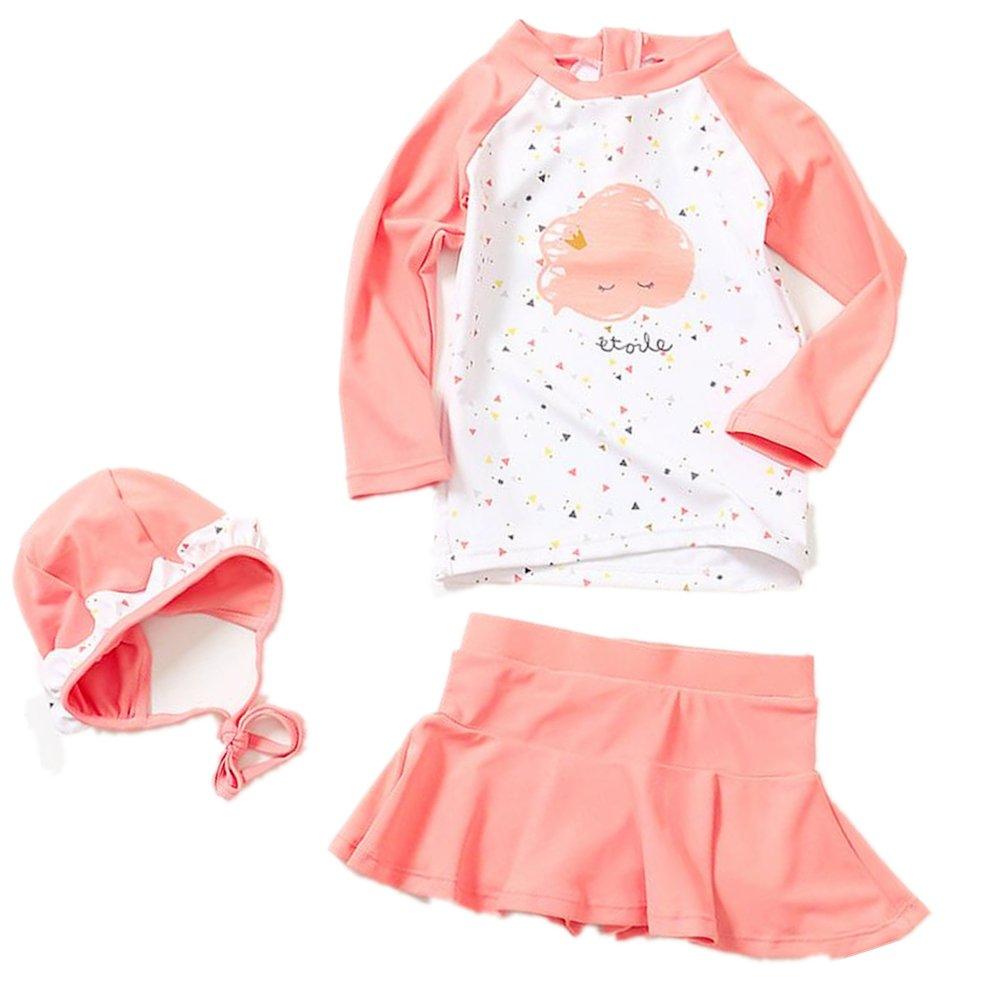 ZYZF Kid Girl Tankini Bikini Swimwear Long Sleeve Swimsuit Rash Guard UPF 50+ UV 20160614100